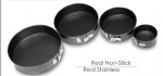 Round Shaped Cake Mould Non-Stick with Removable Base and Buckle-Black