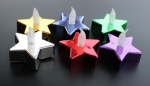 Metallic LED Star Tealight Candle