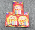 Candy Strip Happy Birthday Candles Set