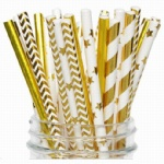 Gold Stamping Paper Straw